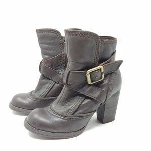 Report Valerie Heeled Boots Brown Leather